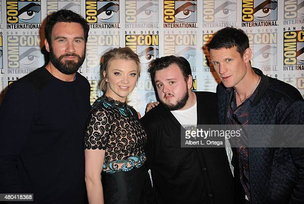 Actors Clive Standen actress Natalie Dormer actor John Bradley and actor Matt Smith attend the Screen Gems panel for Patient Zero and Pride and...