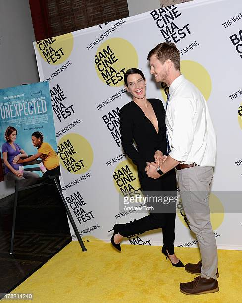 """Actors Cobie Smulders and Anders Holm attend the """"Unexpected"""" Premiere during BAMcinemaFest 2015 at BAM Peter Jay Sharp Building on June 23, 2015 in..."""