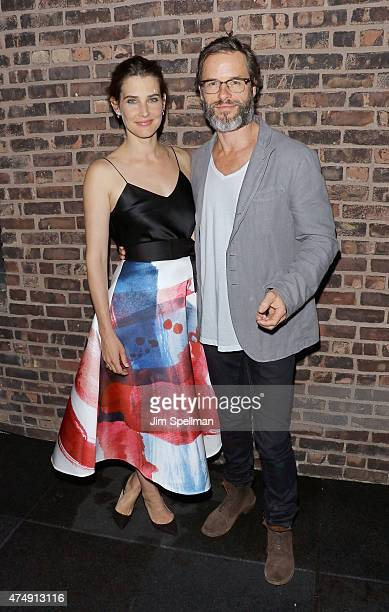 Actors Cobie Smulders and Guy Pearce attend the after party for Magnolia Pictures' 'Results' premiere hosted by The Cinema Society with Women's...