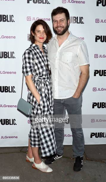 Actors Cobie Smulders and Taran Killam attend the 'Julius Caesar' opening night at Delacorte Theater on June 12 2017 in New York City