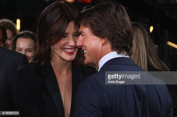 Actors Cobie Smulders and Tom Cruise attend the 'Jack Reacher Never Go Back' Berlin Premiere at CineStar Sony Center on October 21 2016 in Berlin...