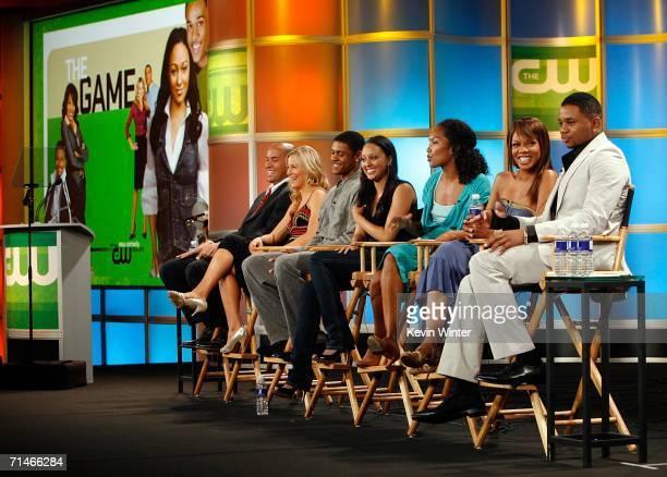 Actors Coby Bell, Brittany Daniel, Pooch Hall, Tia Mowry, Executive Producer Mara Brock Akil, Actress Wendy Raquel Robinson, and Actor Hosea Chanchez...