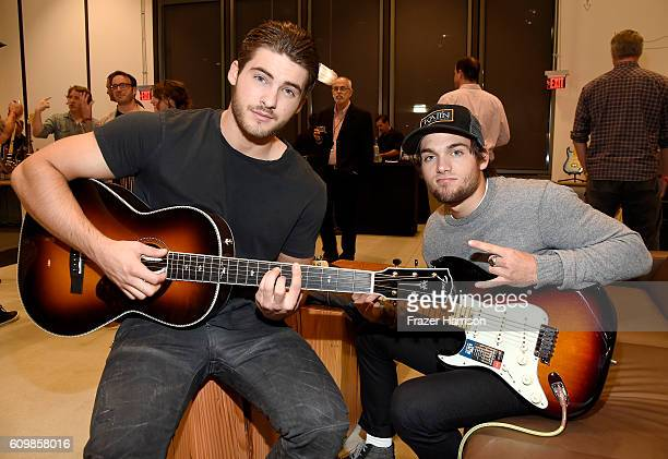Actors Cody Christian and Dylan Sprayberry attend the Fender Hollywood office Grand Opening with exclusive performances By Cold War Kids and Bleached...