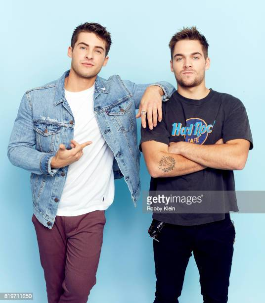 Actors Cody Christian and Dylan Sprayberry from MTV's 'Teen Wolf' pose for a portrait during ComicCon 2017 at Hard Rock Hotel San Diego on July 20...