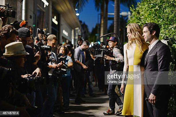 Actors Cody Horn and Ethan Peck attend as Ferragamo Celebrates 100 Years in Hollywood at the newly unveiled Ferragamo boutique on September 9 2015 in...