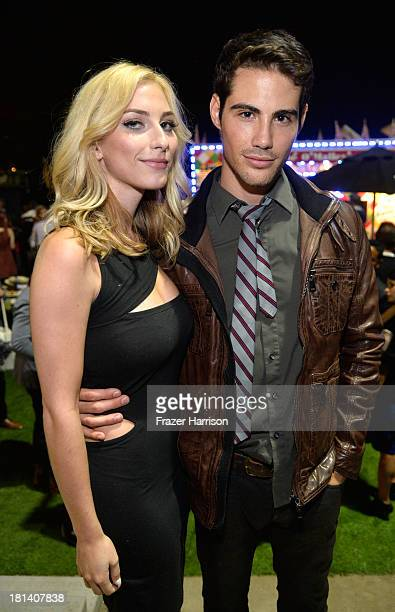 Actors Cody Kennedy and Francisco San Martin attend the Hudson Jeans Presents The Art of Elysium's Genesis Celebrating Emerging Artists at Siren Cube...