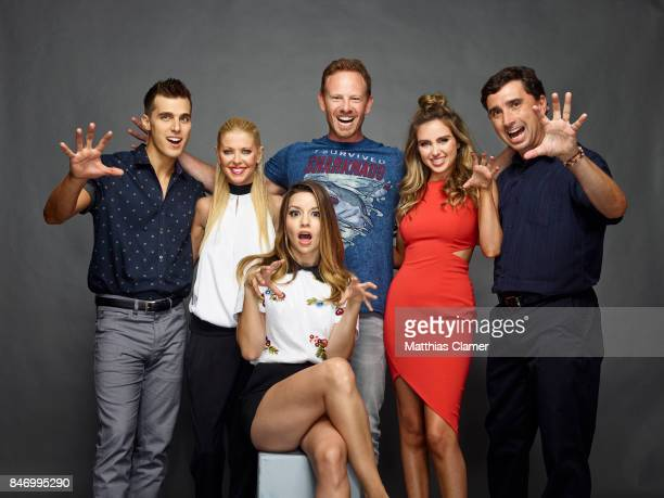 Actors Cody Linley Tara Reid Masiela Lusha Ian Ziering Ryan Newman and Anthony C Ferrante from 'Sharknado 4 The 4th Awakens' are photographed for...