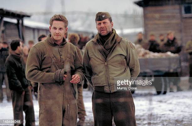 Actors Cole Hauser and Bruce Willis in a scene from the film 'Hart's War' 2002