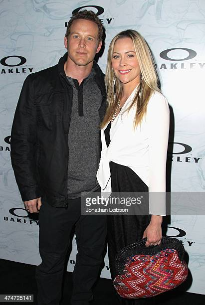 Actors Cole Hauser and Cynthia Daniel celebrate the past present and future of Oakley's design and technology at the brand's Disruptive by Design...