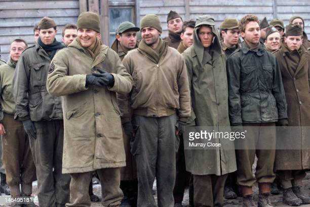 Actors Cole Hauser Rory Cochrane and Michael Weston in a scene from the film 'Hart's War' 2002