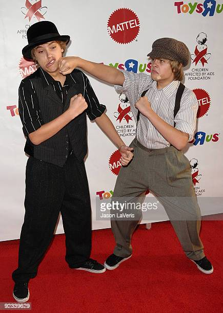 Actors Cole Sprouse and Dylan Sprouse attend the 16th annual Dream Halloween at Barkar Hangar on October 24 2009 in Santa Monica California