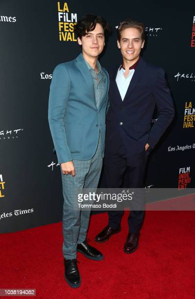 Actors Cole Sprouse and Dylan Sprouse attend the BANANA SPLIT premiere at the Los Angeles Film Festival at ArcLight Culver City on September 22 2018...