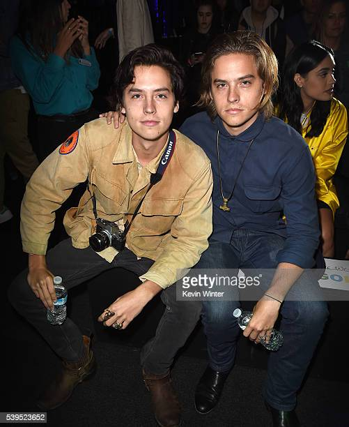 Actors Cole Sprouse and Dylan Sprouse attend Tyler the Creator's fashion show for Made LA at LA Live on June 11 2016 in Los Angeles California