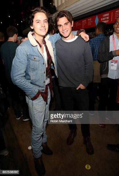 Actors Cole Sprouse and KJ Apa attend BuzzFeed and The CW's Riverdale Presents Pep Rally on March 11 2017 in Austin Texas