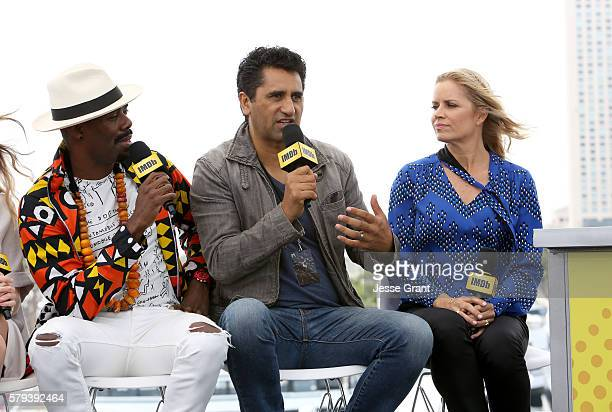 Actors Coleman Domingo, Cliff Curtis and Kim Dicken attend AMC at Comic-Con on July 23, 2016 in San Diego, California.