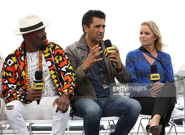 Actors Coleman Domingo, Cliff Curtis and Kim Dickens attend AMC at Comic-Con on July 23, 2016 in San Diego, California.