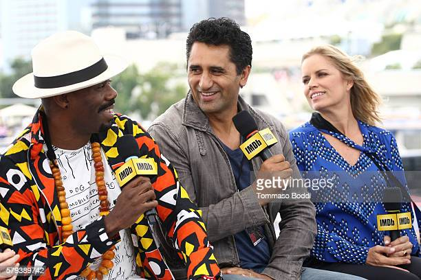 Actors Coleman Domingo Cliff Curtis and Kim Dickens of Fear the Walking Dead attend the IMDb Yacht at San Diego ComicCon 2016 Day Three at The IMDb...