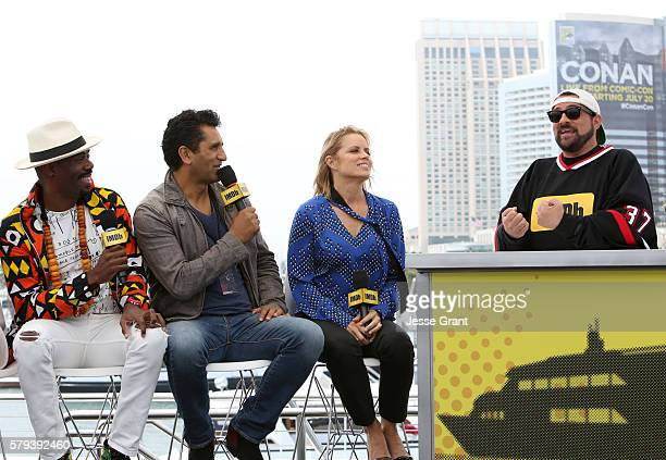 Actors Coleman Domingo Cliff Curtis and Kim Dickens with director Kevin Smith attend AMC at ComicCon on July 23 2016 in San Diego California