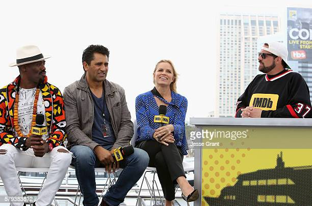 Actors Coleman Domingo Cliff Curts and Kim Dickens with director Kevin Smith attend AMC at ComicCon on July 23 2016 in San Diego California