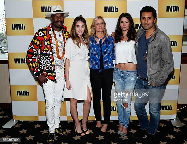 Actors Coleman DomingoAlycia DebnamCarey Kim Dickens Mercedes Mason and Cliff Curtis of Fear the Walking Dead attend the IMDb Yacht at San Diego...