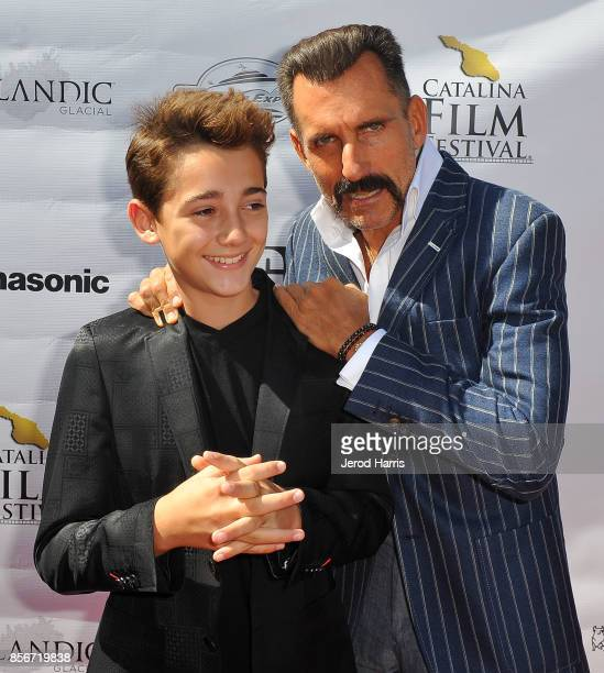 Actors Colin Critchley and Wass Stevens attend the 2017 Catalina Film Festival on September 30 2017 in Catalina Island California
