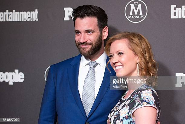 Actors Colin Donnell and Patti Murin attend the 2016 Entertainment Weekly People New York Upfront at Cedar Lake on May 16 2016 in New York New York