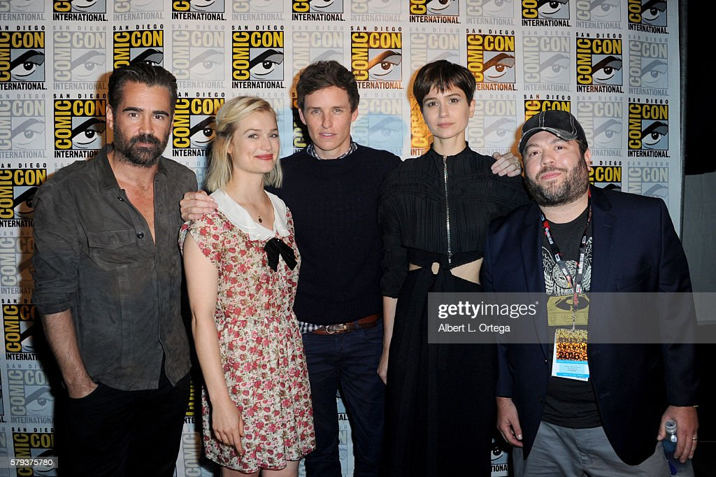 Actors Colin Farrell, Alison Sudol, Eddie Redmayne, Katherine Waterston, and Dan Fogler attend the Warner Bros. Presentation during Comic-Con International 2016 at San Diego Convention Center on July 23, 2016 in San Diego, California.