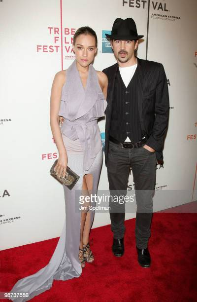 Actors Colin Farrell and Alicja Bachleda attend the Ondine premiere during the 9th Annual Tribeca Film Festival at the Tribeca Performing Arts Center...