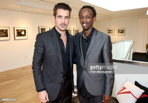 Actors Colin Farrell and Barkhad Abdi attend Variety Awards Studio Day 1 at the Leica Gallery and Store on November 20 2013 in West Hollywood...