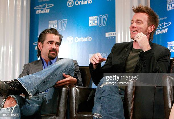 """Actors Colin Farrell and Ewan McGregor at The 32nd Annual Toronto International Film Festival """"Cassandra's Dream"""" Press Conference at Sutton Place..."""
