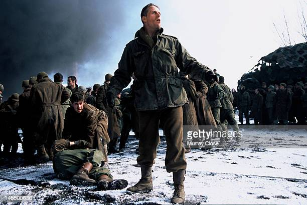 Actors Colin Farrell and Linus Roache in a scene from the film 'Hart's War' 2002