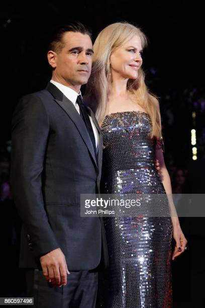 Actors Colin Farrell and Nicole Kidman attend the Headline Gala Screening UK Premiere of 'Killing of a Sacred Deer' during the 61st BFI London Film...