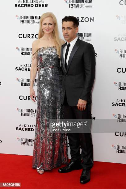 Actors Colin Farrell and Nicole Kidman attend the Headline Gala Screening UK Premiere of Killing of a Sacred Deer during the 61st BFI London Film...