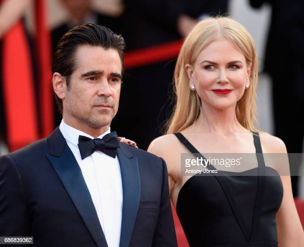 Actors Colin Farrell and Nicole Kidman attend the The Killing Of A Sacred Deer screening during the 70th annual Cannes Film Festival at Palais des...