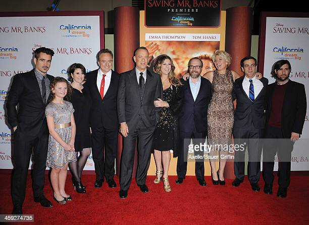 Actors Colin Farrell Annie Rose Buckley Melanie Paxson Bradley Whitford Tom Hanks Rita Wilson Paul Giamatti Emma Thompson BJ Novak and Jason...