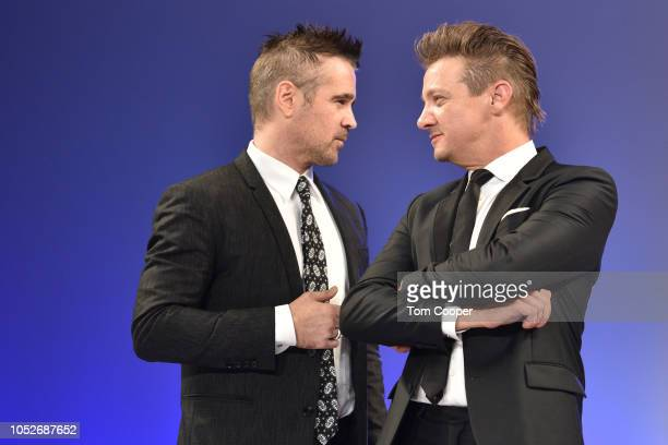 Actors Colin Farrell with Jeremy Renner at the Global Down Syndrome Foundation 10th Anniversary BBBY fashion show at Sheraton Denver Downtown Hotel...