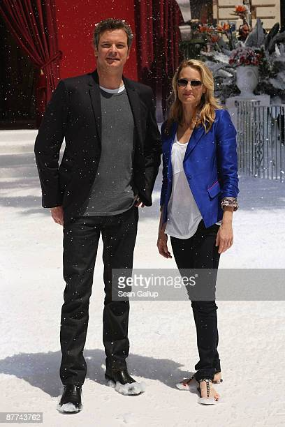 Actors Colin Firth and Robin Wright Penn attend the 'A Christmas Carol' Photocall during the 62nd International Cannes Film Festival on May 18th 2009...