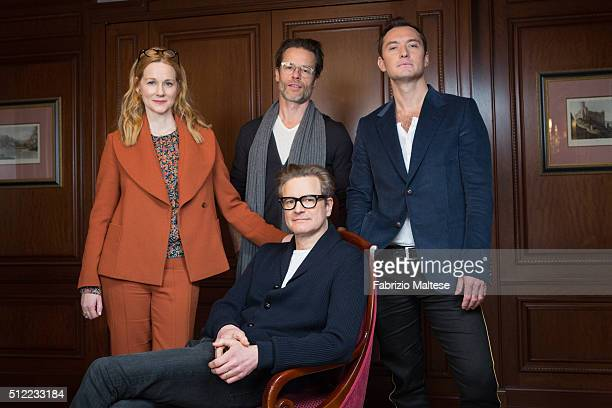 Actors Colin Firth Jude Law Laura Linney and Guy Pearce are photographed for The Hollywood Reporter on February 15 2016 in Berlin Germany