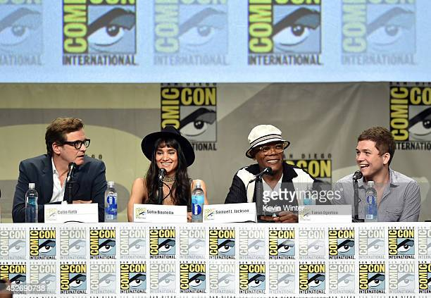 Comic Con 2014 Colin Firth Taron Egerton Sophie: Sofia Boutella Stock Photos And Pictures