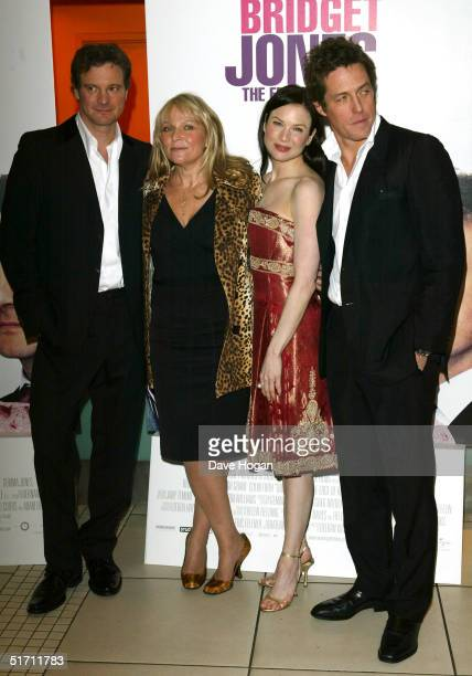 Actors Colin Firth writer Helen Fielding actors Renee Zellweger and Hugh Grant arrive at the UK Gala Premiere of Bridget Jones The Edge Of Reason at...