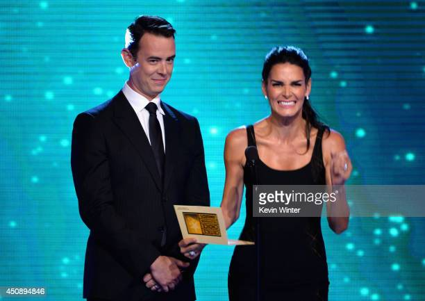 Actors Colin Hanks and Angie Harmon speak onstage during the 4th Annual Critics' Choice Television Awards at The Beverly Hilton Hotel on June 19 2014...