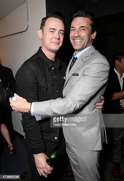 Actors Colin Hanks and Jon Hamm attend a 'Mad Men' Live Read and Series Finale Event at The Theater at The Ace Hotel on May 17 2015 in Los Angeles...