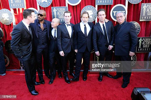 Actors Colin Hanks Billy Brown CS Lee Josh Cooke James Remar Desmond Harrington and Edward James Olmos arrive at the 18th Annual Screen Actors Guild...