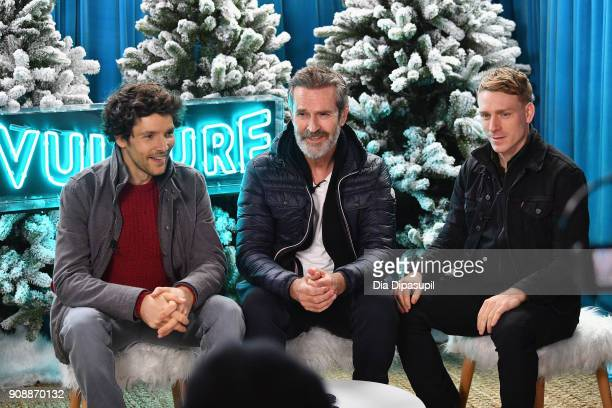 Actors Colin Morgan Rupert Everett and Edwin Thomas attend The Vulture Spot Park City Utah during the 2018 Sundance Film Festival on January 21 2018...