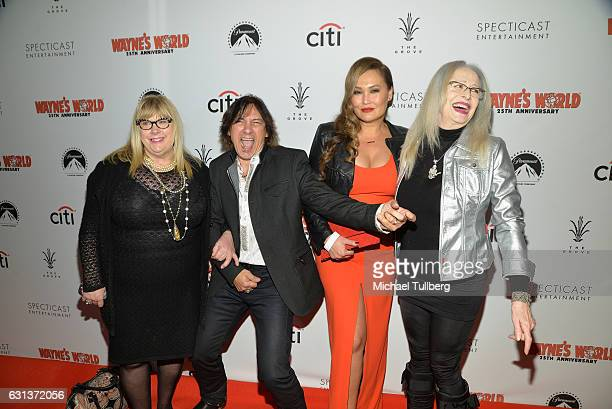 Actors Colleen Camp George Foster and Tia Carrere and director Penelope Spheeris attend the 'Wayne's World' 25th Anniversary Panel Discussion at...