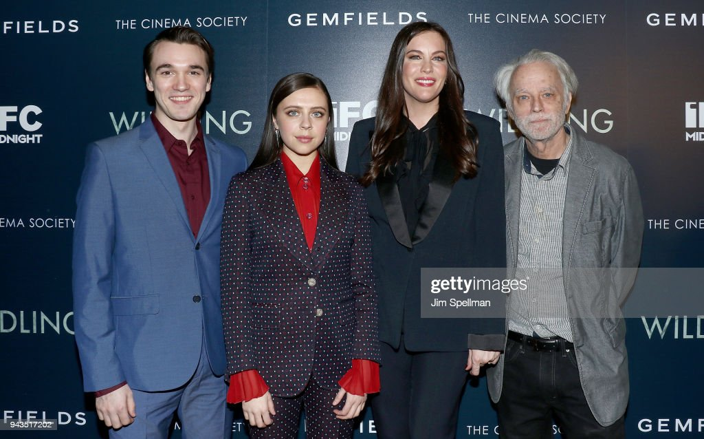 Actors Collin Kelly-Sordelet, Bel Powley, Liv Tyler and Brad Dourif attend the screening of IFC Midnight's 'Wildling' hosted by The Cinema Society and Gemfields at iPic Theater on April 8, 2018 in New York City.