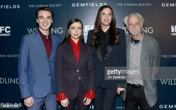 Actors Collin KellySordelet Bel Powley Liv Tyler and Brad Dourif attend the screening of IFC Midnight's Wildling hosted by The Cinema Society and...