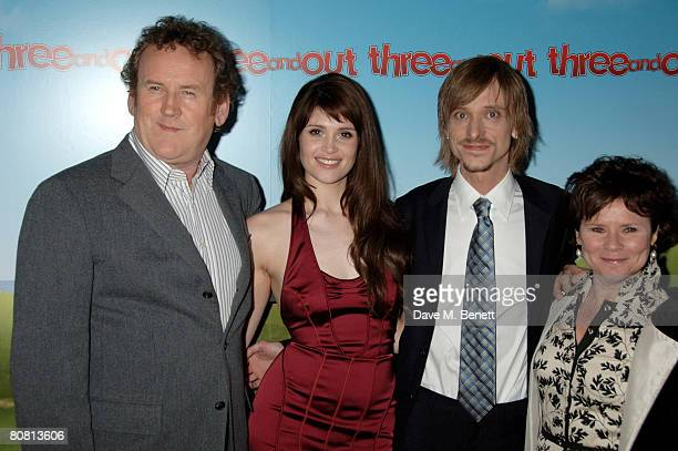 Actors Colm Meaney Gemma Arterton Mackenzie Crook and Imelda Staunton attend the World Charity Premiere of 'Three and Out' at the Odeon Leicester...