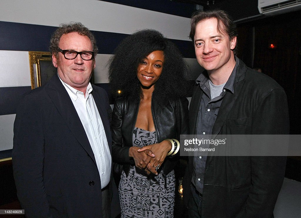 Actors Colm Meaney, Yaya DaCosta and Brendan Fraser attend the Tribeca Film Festival 2012 After-Party for 'Whole Lotta Sole' at Anchor Bar on April 22, 2012 in New York City.
