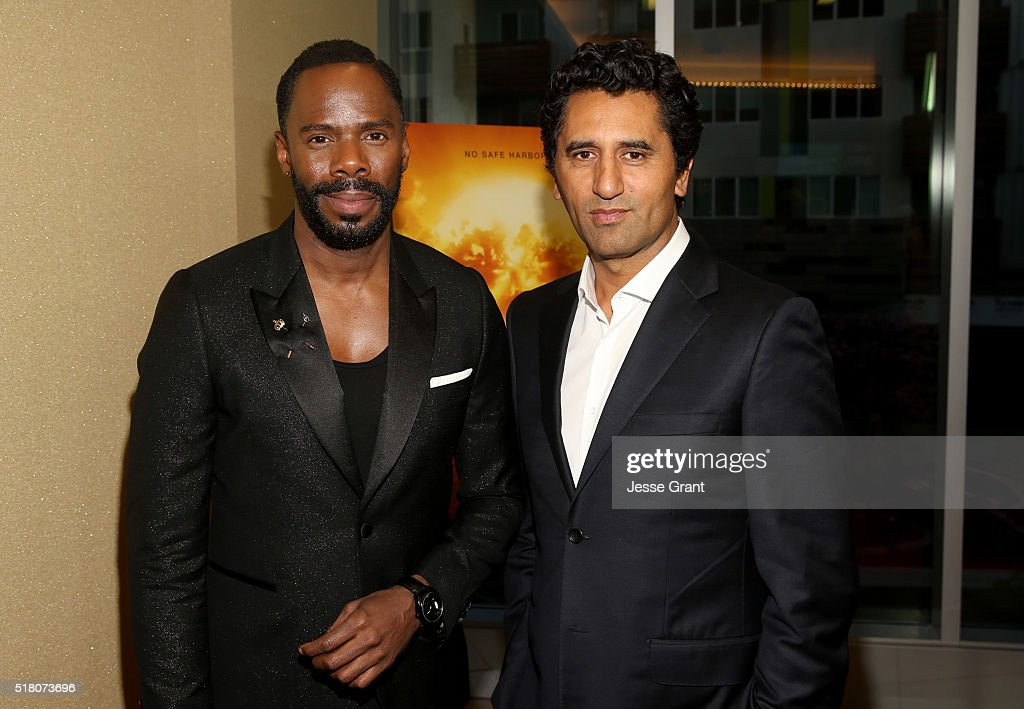 Actors Colman Domingo (L) and Cliff Curtis attend the season 2 premiere of 'Fear the Walking Dead' at Cinemark Playa Vista on March 29, 2016 in Los Angeles, California.